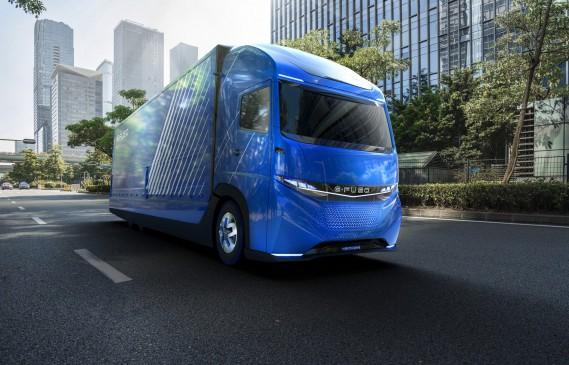 Le concept E-Fuso Vision One de Daimler, dévoilé à Tokyo en octobre dernier. Crédit: Daimler ()