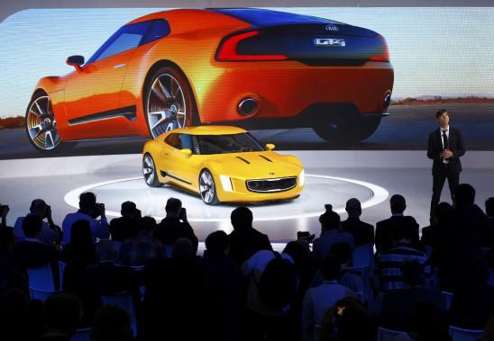 Le prototype GT4 Stinger avait été montré au Salon de l'auto de Détroit en 2014. (REUTERS)