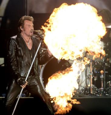 Johnny Hallyday lors d'un concert au Centre Bell en 2012. (PHOTO BERNARD BRAULT, LA PRESSE)