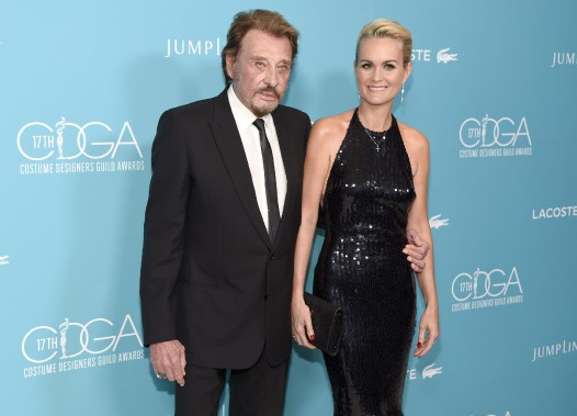 Johnny Hallyday avecson épouse Laeticia en 2015. (Photo Chris Pizzello, Invision/AP)