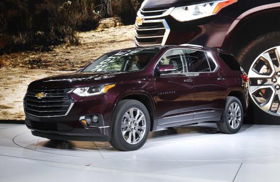 Le Chevrolet Traverse durant sa présentation au Salon de l'auto de Détroit le 9 janvier 2017. (AP)