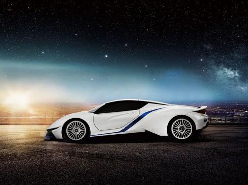 Le prototype de voiture sport électriqueArcfox-7. (BAIC)