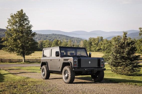 Bollinger Motors, qui vient de dévoiler son nouveau Bollinger B1, un véhicule entièrement électrique inspiré du Land Rover Defender ()