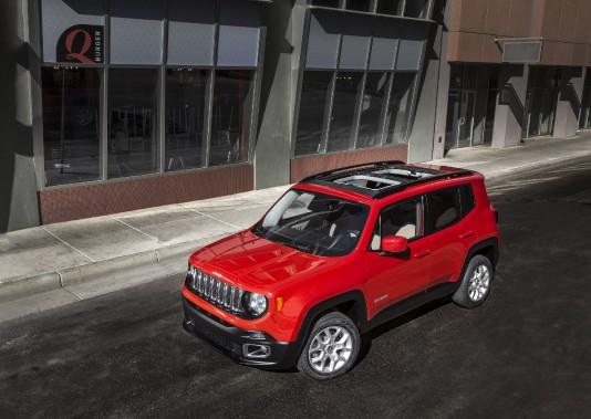 <strong>L'effet d'un plein de super sur un Jeep Renegade :</strong>Le petit VUS américain voit sa consommation moyenne baisser de 1,9 % dans les tests du club automobile américain. En revanche, la puissance mesurée est inférieure de 0,3 % avec du super, par opposition à de l'essence ordinaire. (Photo : Jeep)