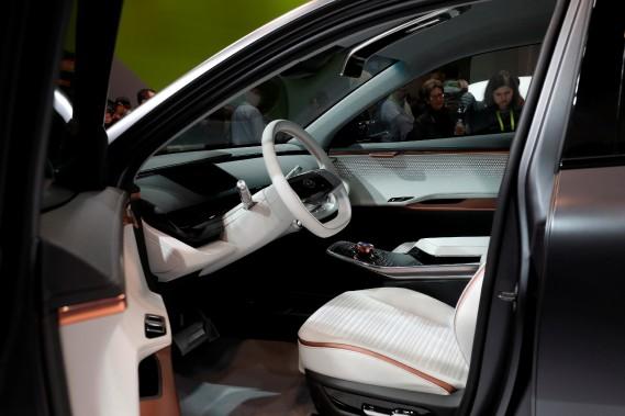 L'intérieur du prototyple Kia Niro EV montré au Consumer Electronics Show de Las Vegas. (photo REUTERS)