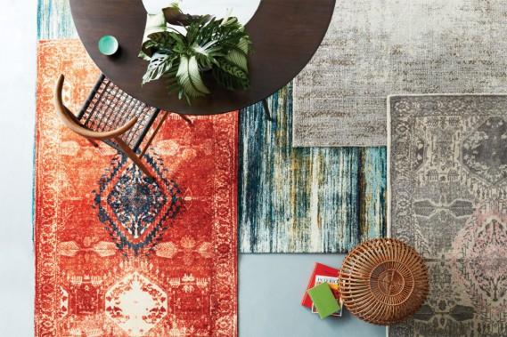 Rouge «caliente»:La couleur riche et saturée du tapis Médaillon modernise son motif traditionnel. Celui-ci est tissé à la main à partir de laine durable à 100%, précise-t-on chez west elm. (PHOTO FOURNIE PAR WEST ELM)