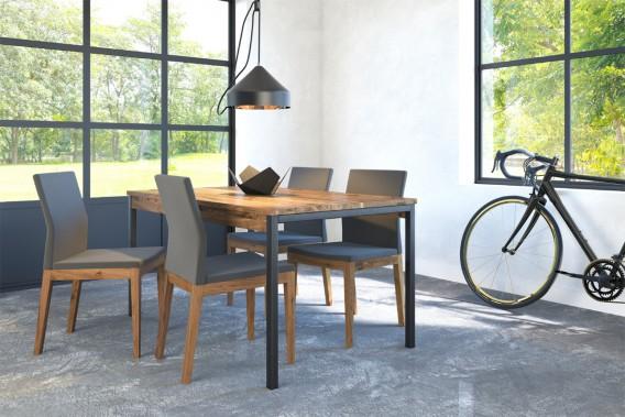 Les dossiers des chaises s'abaissent, obstruant moins la vue et rendant l'espace plus épuré, fait remarquer Sophie Boucher, directrice des ventes chez Verbois. Les pattes des chaises s'affinent, tout comme celles des tables. (PHOTO FOURNIE PAR VERBOIS)