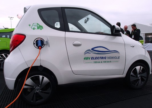 La petite 2-places urbaine 100% électrique serait dotée de 100 kilomètres d'autonomie et d'une vitesse de pointe de 100 km/heure. (AFP)