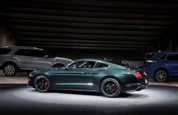 La Mustang Bullitt 2019 au Salon de l'auto de Détroit. (AP)