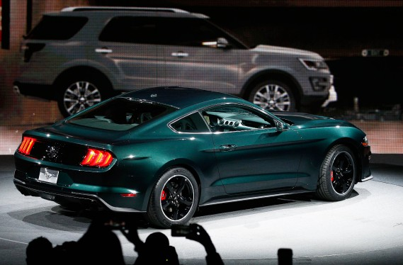 La Mustang Bullitt 2019 au Salon de l'auto de Détroit. (REUTERS)