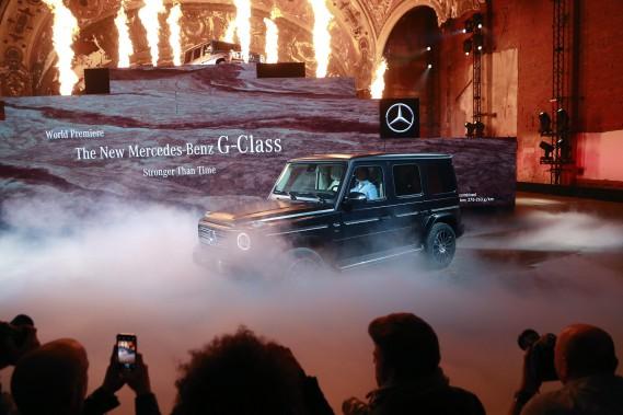 Le Mercedes-Benz G-Class est très conservateur au niveau design extérieur, mais la plateforme et l'intérieur ont été modernisés. (AP)