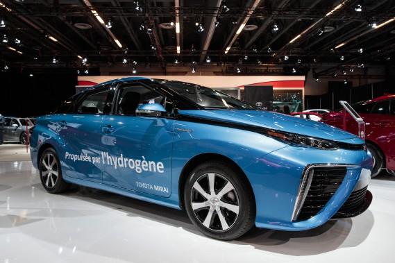 La Toyota Mirai au Salon de l'auto de Montréal (La Presse)