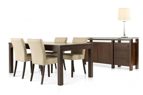 Un consommateur au goût plutôt conservateur préférera que le dessus de la table soit en bois, d'une teinte foncée et classique, indique Sophie Boucher, directrice des ventes chez Verbois. (ILLUSTRATION FOURNIE PAR VERBOIS)