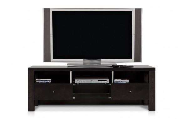 En noir, le même meuble audio-vidéo a un look plus contemporain. (ILLUSTRATION FOURNIE PAR VERBOIS)