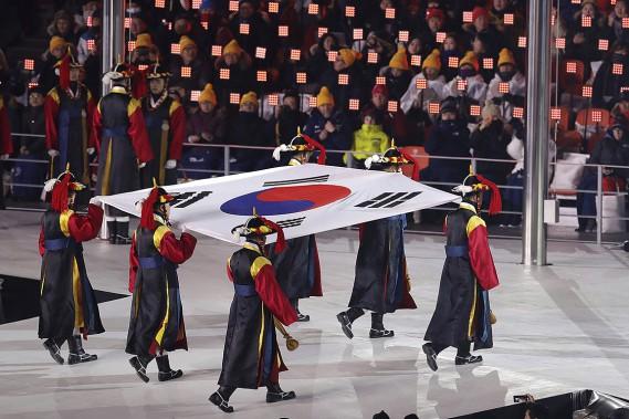 Le drapeau de la Corée du Sud. (AP)
