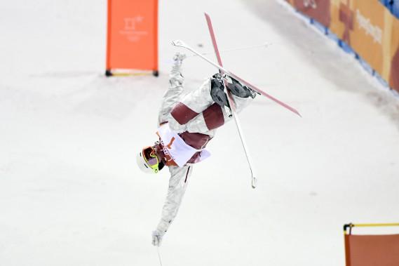 Mikaël Kingsburya réalisé une descente parfaite en super finale pour s'adjuger une note de 86,63. (Photo Bernard Brault, La Presse)