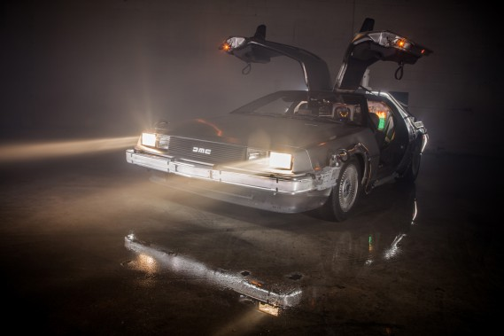 <strong>La voiture qui a marqué son enfance - </strong>La DeLorean DMC-12 des personnages de Doc Brown et Marty McFly dans la trilogie <em>Back to the Future.</em><strong></strong> (Photo : Michael Malorni, East Coast Cars)