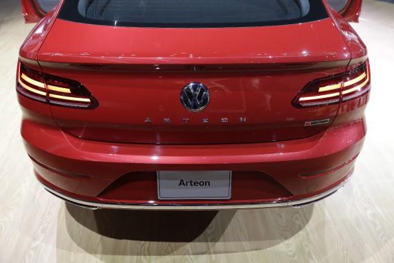 L'Arteon lors de son dévoilement nord-américain au Salon de l'auto de Chicago. (photo AP)