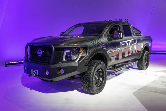 Le pick-up Nissan Titan XD en version «Lifted» (surélevé). ()