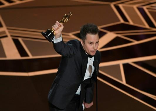 Sam Rockwell a remporté l'Oscar du meilleur acteur dans un second rôle pour sa prestation dans <em>Three Billboards Outside Ebbing, Missouri</em>. (AFP)
