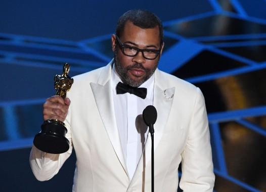 Jordan Peele a reçu l'Oscar du meilleur scénario original pour <em>Get Out</em>, qu'il a aussi mis en scène. (AFP)
