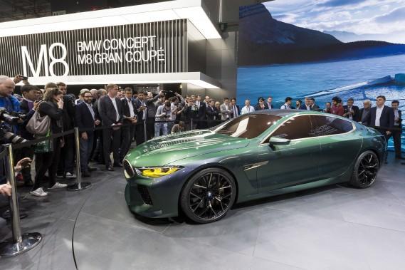 La BMW M8 Gran coupé 2019.On devrait retrouver sous son capot la mécanique de la récente BMW M5, à savoir un moteur 8-cylindres en V de 4,4 litres biturbo de 600 chevaux. (AP)