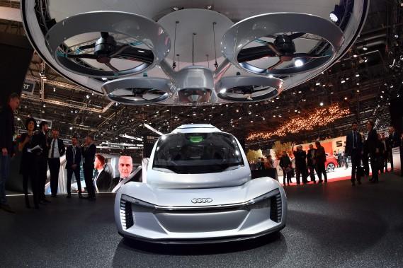 Le PopUp Next est le produit d'une alliance entre Airbus, Audi et Italdesign. (AFP)