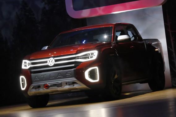 Le prototype de pickup Atlas Tanoak, que Volkswagen a présenté mercredi au Salon de l'auto de New York. Non, Tanoak ne veut pas dire F-150 en allemand. (photo REUTERS)