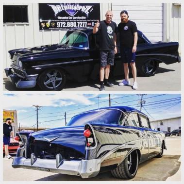 <strong>La voiture de ses rêves -</strong> Il l'a déjà. Sa Chevrolet Bel Air 1956 noire. (Photo Compte twitter de Jordie Benn)