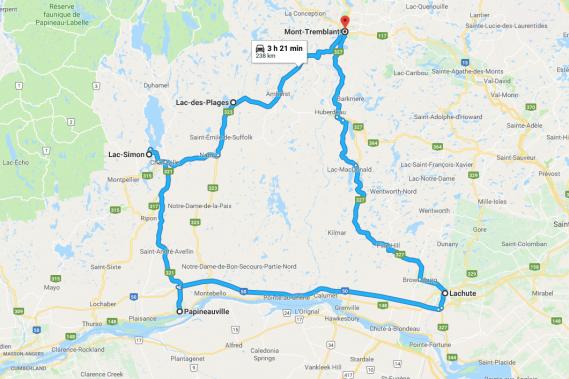Circuit de la Petite Nation (Google Maps)