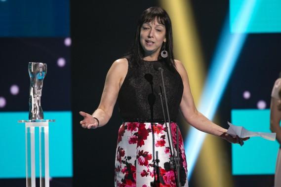 Meilleur scénario : Nicole Bélanger pour <em>Les rois mongols</em>. (PHOTO : DAVID BOILY, LA PRESSE)