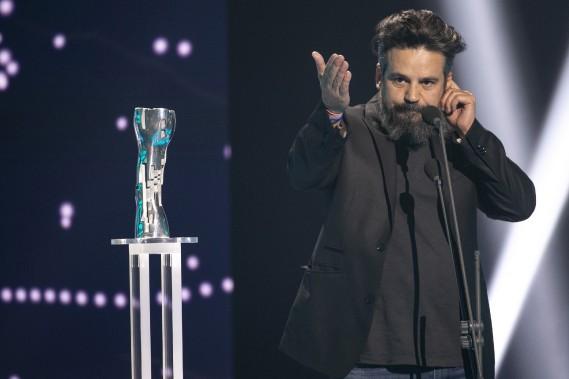 Robin Aubert a été sacré meilleur réalisateur pour <em>Les Affamés</em>, le grand gagnant du Gala Québec Cinéma. (PHOTO : DAVID BOILY, LA PRESSE)