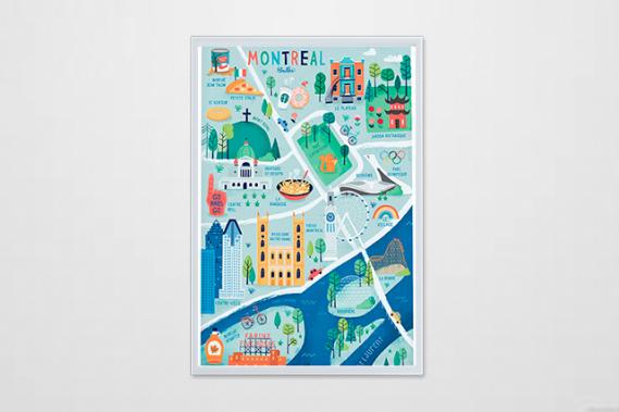 Montréal en carte (Courtoisie : Alice Hosdain)