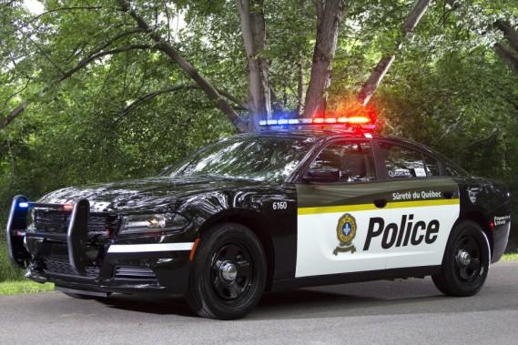 Une Dodge Charger de la Sûreté du Québec. (Photo Sureté du Québec)