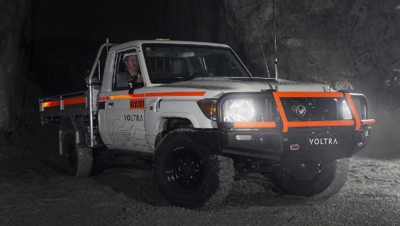 Le Voltra e-Cruiser est testé sous terre à la mine BHP d'Olympic Dam, au sud de l'Australie. (Photo BHP)
