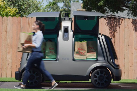 La chaîne de supermarchés américaine Kroger a inauguré cette semaine son service de livraison sans chauffeur à l'épicerie Fry's Food Store, à Scottsdale, en Arizona. (Photo Kroger)