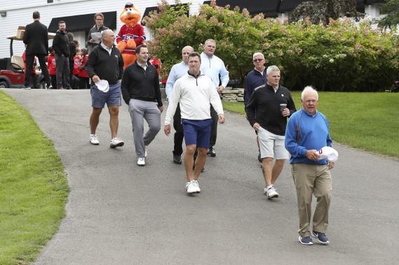 Des anciens joueurs du Canadien (Photo Robert Skinner, La Presse)