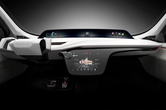 Une caméra logée dans le tableau de bord du prototype Chrysler Portal permet à un logiciel de reconnaissance faciale d'identifier le propriétaire et les autres conducteurs autorisés. (Photo: Fiat-Chrysler)