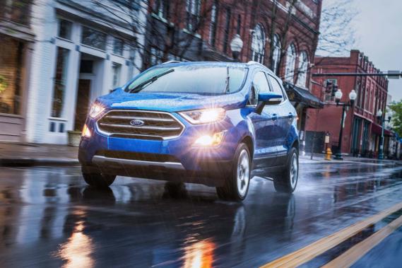 LeFord EcoSport est assemblé sur la même plateforme que la compacte Fiesta. (Toutes les photos Ford)