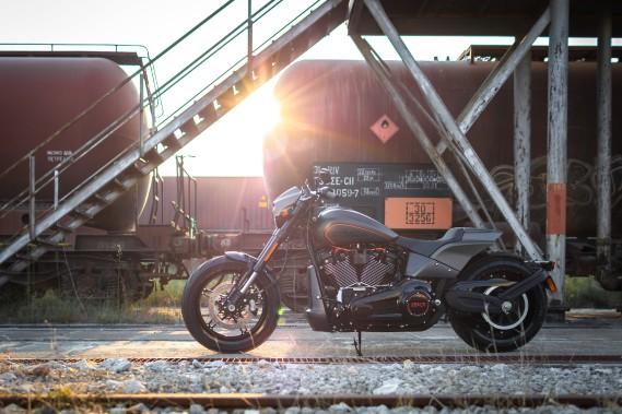<strong>La FXDR 114 donne un avant-goût du changement du cap que s'apprête à faire Harley-Davidson.</strong> (Toutes les photos Harley-Davidson)