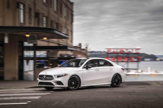Banc d'essai Mercedes ClasseA 2019 - Un blason pour carte de visite