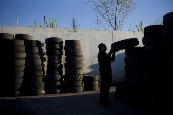 Période de pointe dans la collecte de pneus usés