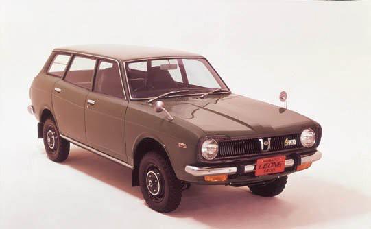 La Subaru Leone 1972, à rouage intégral bien entendu. (Photo Subaru)