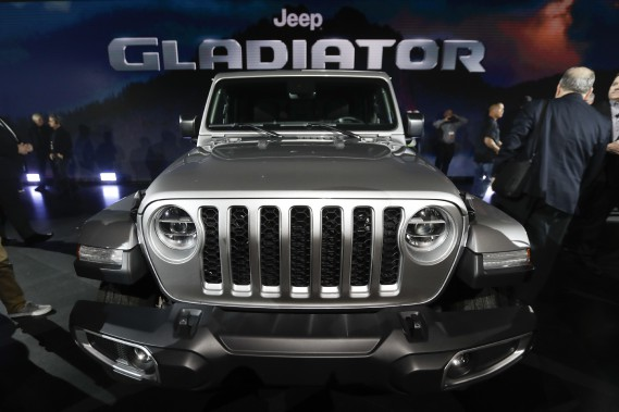 Le Jeep Gladiator 2020 au Salon de l'auto de Los Angeles. (AP)