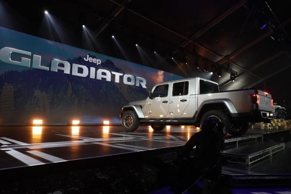 Le Jeep Gladiator 2020 au Salon de l'auto de Los Angeles. (AP)