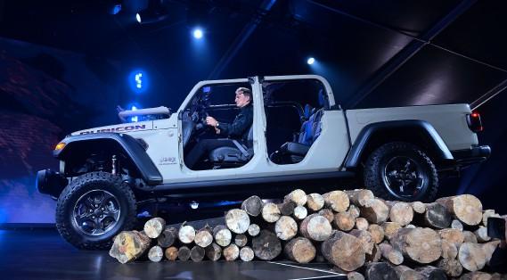Le Jeep Gladiator Rubicon 2020 au Salon de l'auto de Los Angeles. (AFP)