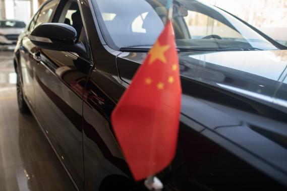 UneHongqi«Drapeau Rouge» en montre dans une concession Hongqi de Pékin. (AFP)