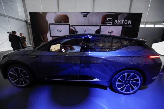 Byton avait dévoilé le prototype du M-Byte lors du Salon de l'auto de Los Angeles le 27 novembre. (REUTERS)