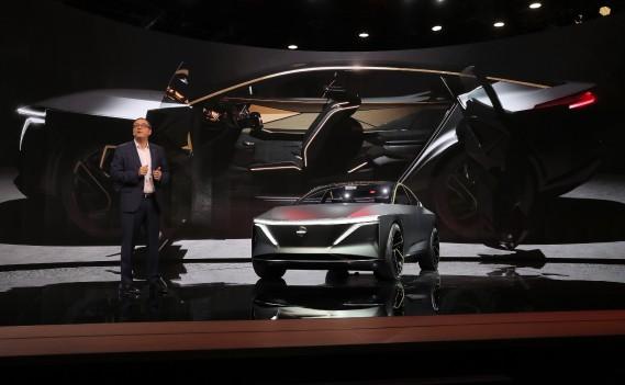 Denis Le Vot Premier vice-président de Nissan Amérique du Nord, a présenté le prototype Nissan IMsau Salon de l'auto de Détroit. (REUTERS)