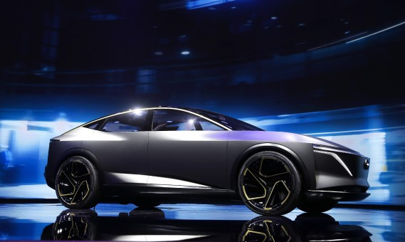 The Nissan IMs Concept debuts during media previews for the North American International Auto Show in Detroit, Monday, Jan. 14, 2019. (AP Photo/Paul Sancya) (AP)